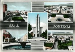 PONTINIA  LATINA  Saluti Da.. Vedutine  Piazza Indipendenza  Via Battisti  Duomo S. Anna  Panorama - Latina