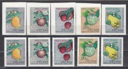 Vietnam Nord 1964 - Tropic Fruits, Mi-Nr. 334/38, Perf.+imperf., MNH** - Vietnam