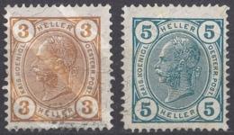 AUSTRIA - 1904 - Lotto Di 2 Valori Nuovi Con Gomma Leggerissima Ma Nessun Segno Di Linguella: Yvert 83 E 84. - Neufs