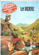 """4 FEUILLETS TRANS'RAMA GEANT  -  THEME  """"  LES INDIENS  """"  TABLEAU  """" JESCO  """" - Books, Magazines, Comics"""