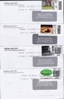 FranceUsageLot 5 Enveloppes Mon Timbre En Ligne Sports Golf Basket Rugby - Altri