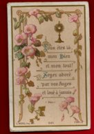 Image Pieuse Religieuse Holy Card Vous êtes Là Mon Dieu Et Mon Tout Soyez Adoré Par Vos Anges ... Ed Morel 943 - Santini