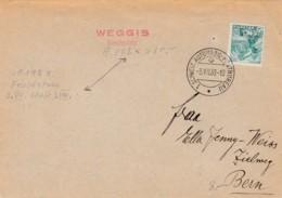 No 202 Sur Lettre Oblitérée Schweiz Automobil - Postbureau - Flamme WEGISS Kirchplatz ( A.198 X ) - Lettres & Documents