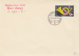 No 291 Sur Lettre Oblitérée Schweiz Automobil Postbureau - Cachet Gauturnfest 1949 Muri ( Aarg. ) ( A, 479 ) - Lettres & Documents