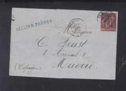 France Lettre 1879 A Madrid - Poststempel (Briefe)