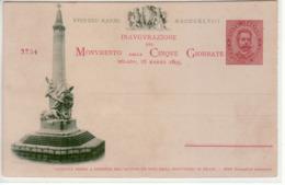 """1895 - CARTOLINA POSTALE """" CINQUE GIORNATE DI MILANO """" NUOVA VEDI++++ - 1900-44 Vittorio Emanuele III"""
