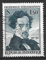 AUTRICHE    -  1962  .  Y&T N° 949 Oblitéré.   Le Peintre Friedrich Gauermann - 1945-.... 2a Repubblica