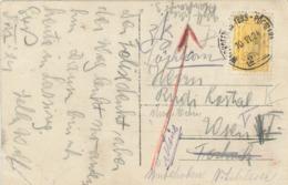 Inflation Karte - Zugstempel Waidhofen Donau - Ybbs - Pöchlarn - Rs: AK SW Hochkaar - Storia Postale