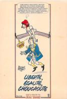 Spectacle-Cinema-Affiche Sur Carte-LIBERTE EGALITE CHOUCROUTE Film De Jean Yanne- Illustration Jacques FAIZANT*PRIX FIXE - Cinema