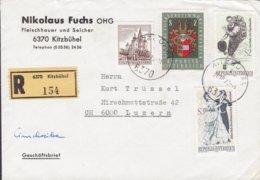 Austria NIKOLAUS FUCHS Fleischhauer U. Selcher Registered Recommandé Label KITZBÜHEL 1970 Cover Brief LUZERN Suisse - 1945-.... 2. Republik