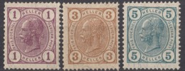 AUSTRIA - 1904 - Lotto Di 3 Valori Nuovi MH: Yvert 81a, 83a E 84a. - 1850-1918 Imperium