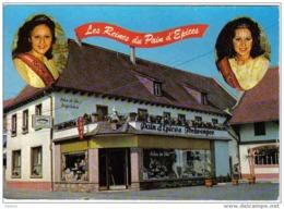 Carte Postale  67.  Fortwenger  Gertwiller  Barr Tabac-Café  Les Reines Du Pain D'Epices - Non Classés