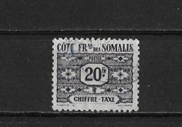 Cote Des Somalis Yv. Taxe 53 O. - Oblitérés