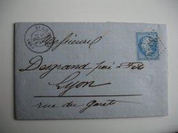 3540 Gros  CHIFFRE  Saint Chamond  Cachet Type 15 Sur Lettre Timbre Empire Dentele - Marcophilie (Lettres)