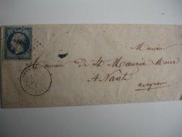 Aveyron 2888 Petit  CHIFFRE  Severac Cachet Type 15 Sur Lettre Timbre Empire Non Dentele Dentele - Marcophilie (Lettres)
