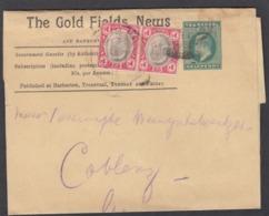 "STREIFBAND ""THE GOLD FIELDS NEWS,GOVERNMENT GAZETTE"" NACH COBLENZ. - South Africa (...-1961)"