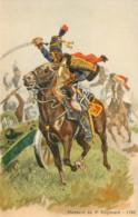 Illustrateur Histoire Militaire Toussaint, Hussards Du 4ème Régiment, 1792, N° 330 - Andere Illustrators
