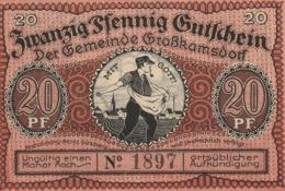 Billets De Nécessité Allemand 1921, 20 Pfennig - 1918-1933: Weimarer Republik