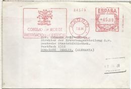 MADRID CC CON FRANQUEO MECANICO METER CSIC CONSEJO SUPERIOR INVESTIGACIONES CIENTIFICAS - 1931-Hoy: 2ª República - ... Juan Carlos I