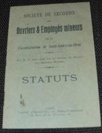 STATUTS Société Secours Mineurs Saint André Sur Orne Mines Mine De Fer 1931 - Documents Historiques