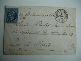 Origine Rurale O R OR  Petit CHIFFRE  Nogent Haute Marne   Cachet Type 15  Sur Lettre Timbre Ceres - Marcophilie (Lettres)