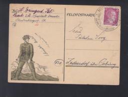 Dt. Reich PK 1945 Mugsbach Pfalz - Brieven En Documenten