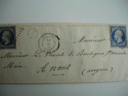 Aveyron OR  Origine Rurale Millau Petit Chiffre Sur Empire  Non Dentele - Marcophilie (Lettres)
