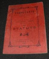 STATUTS Société Coopérative Mineurs LA PREVOYANTE Mine Mines Bousquet D'Orb Hérault 1906 - Documents Historiques