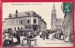 80 - BEAUCAMPS LE VIEUX----Place Du Marché----animé - Autres Communes