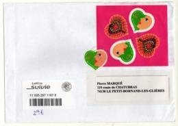Enveloppe FRANCE Oblitération LA POSTE 24/10/2019 - Poststempel (Briefe)