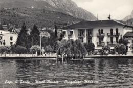 MADERNO-BRESCIA-LAGO DI GARDA-HOTEL=BENACO=-CARTOLINA VERA FOTOGRAFIA-VIAGGIATA IL 5-8-1960 - Brescia