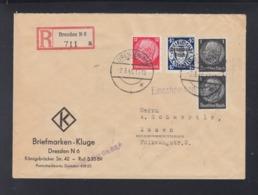 Dt. Reich R-Brief Dresden 1940 Nach Essen - Germany