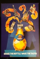 RARE Orangina Soft Drink Carte Postale - Publicité