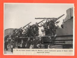 Regia Marina Italia Treno Armato Antiaerea Flak Antiaircraft Train Antiaérien Cannons Guns Contraerea Treni Di Guerra - War, Military