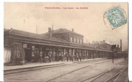 CPA   De   TERGNIER   (02)   -   La Gare  -  Le    Buffet   //   TBE - France