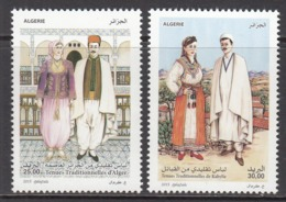 2015 Algeria Traditional Costumes Complete Set Of 2 MNH - Algerien (1962-...)