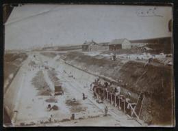 PHOTO ANCIENNE - SNAPSHOT - CHANTIER - MACONS - DEBUT XXe - Métiers