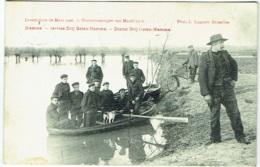Hamme. Inondations 1906. Overstroomingen. Service Drij Goten-Hamme Dienst. - Hamme