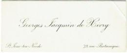Carte Visite. St.Josse-Ten-Noode. Georges Jacqmin De Hivry. 79 Rue Botanique. - Visitekaartjes
