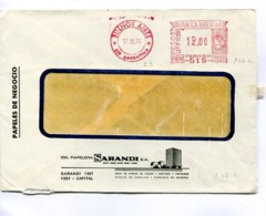 """ARGENTINA COMMERCIAL COVER - CIRCULATED FROM """"SARANDI"""" CAPITAL FEDERAL. YEAR 1976 FRANQUEO MECANICO -LILHU - Storia Postale"""