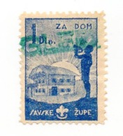 CROATIA, SCOUT POSTER STAMP, ZA DOM , SAVSKA ZUPA - Kroatien