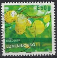 Luxembourg 2018 Oblitéré Rond Used Duederer Variété De Prune SU - Gebruikt