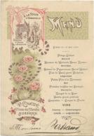 89 AUXERRE MENU HOTEL A LA TOUR D ORBANDELLE PLACE DU MARCHE MEIGE  26 MAI 1906 - Menus