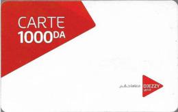 Algeria - Djezzy - Carte White, GSM Refill 1.000DA, Used - Algérie