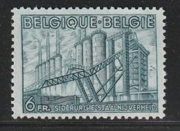 BELGIQUE - N°771 ** (1948) Sidérurgie - - 1948 Export