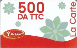 Algeria - Djezzy- La Carte Red White (Type 2), GSM Refill 500DA, Used - Algérie