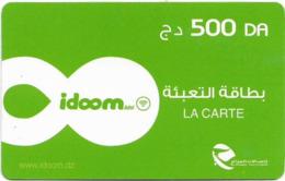 Algeria - Idoom - Green, Date #1, Exp.31.12.2019, GSM Refill 500DA, Used - Algérie