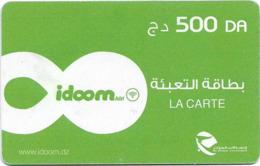 Algeria - Idoom - Green, Date #2, Exp.31.12.2015, GSM Refill 500DA, Used - Algérie