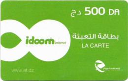 Algeria - Idoom - Green, Date #3, Exp.31.12.2020, GSM Refill 500DA, Used - Algeria