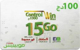 Algeria - Mobilis - Control Win Max 15 Go, Exp.06.02.2019, GSM Refill 100DA, Used - Algeria